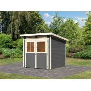 KARIBU Gartenhaus SPARSET Bologna 3 19 mm terragrau, inkl. 2 x selbstklebende Premium-Aluminiumfolie