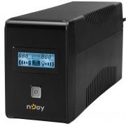 UPS nJoy Isis 650L, 650VA/360W, LCD Display, 2 prize Schuko cu protectie, PWUP-LI065IS-AZ01B (NJOY)