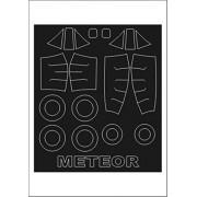 Montex Mini Mask 1:72 Gloster Meteor Mk.9 for MPM Kit Spraying Stencil #SM72143