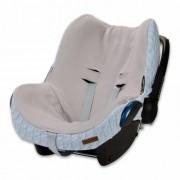 Baby's Only hoes autostoel Maxi Cosi kabel teddy babyblauw