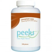 Peelu Chewing Gum - Cinnamon Sass - 100 ct pack of -1 by Peelu