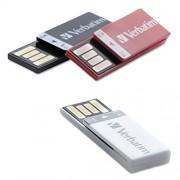 Verbatim 8 GB Clip-it USB Drive Flash Drive 3 Pack Black White Red 98674