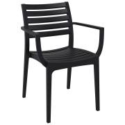 Chaise de terrasse 'ULTIMO' design noire