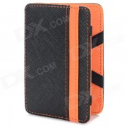WB-1215 plegable de 6 Ranura para tarjeta Bag - Negro + Naranja