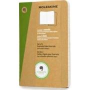 Pocket Ruled Kraft Soft Evernote Journal With Smart Stickers 2 Set by Moleskine