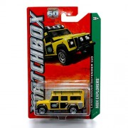 Land Rover Defender 110 (Yellow) * Mbx Explorers * 60th Anniversary Matchbox 2013 Basic Die Cast Vehicle (#59 Of 120)