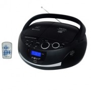 Radio Cd MP3 Portatil Nevir NVR-480UB Negro / Bluetooth