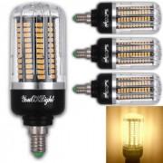 youoklight E12 15W - 130 LED de maiz blanco calido bombilla AC85-265V 4 PCS