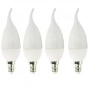 Set 4 Becuri lumanare LED Drimus 5W Lumina calda DL 3053