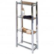 XXXL Shop BADEZIMMERREGAL, Silber, Glas, Metall, 30x87x17 cm