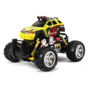Graffiti Jeep Grand Cherokee Electric Rc Off Road Monster Truck 1:18 Scale 4 Wheel Drive Rtr, Working Hinged Spring Suspension, Perform Various Drifts (Colors May Vary)