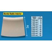 Radio borde piscina Crema 50 cm interior
