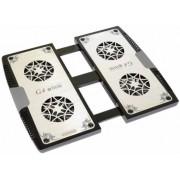 Titan TTC-G4TZ Notebook-Lüfter MAGIC-PAD Aluminium silber/schwarz