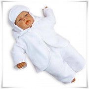 Ubranko do chrztu 3-częściowe polarowe (kolor śnieżnobiały)