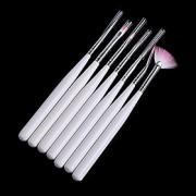 7pcs Pintura Nail Art Desenho Pen Escova Handle Kits