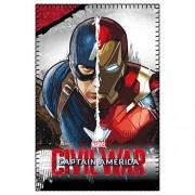 Marvel 2200001651 150 x 100 cm, Civil War Captain America vs. Iron Man, Coperta in pile