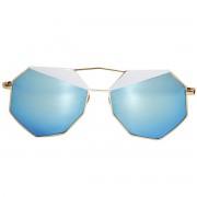Occhiali da sole dhomy le dune gold e white mirror blue d00250