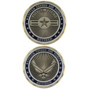 United States Military US Armed Forces Air Force Retired - Good Luck Double Sided Collectible Challe