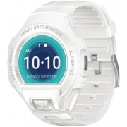 "Smartwatch Alcatel Watch GO, Bluetooth, IPS LCD 1.22"", Bratara silicon, Rezistent la apa si praf (Alb)"