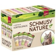 Schmusy Nature Macska Alutasakos Multibox 12x 1.2kg