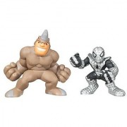 Marvel Super Hero Squad Rhino & Spider-Armor Spider-Man 2 Pack by HASBRO