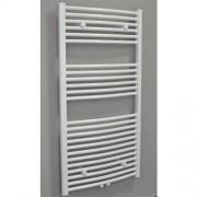 Designradiator Gebogen Sanicare 120x45cm 672 Watt Wit Middenonderaansluiting