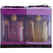 Victoria's Secret Fantasies Love Addict & Coconut Passion coffret I. leite corporal 2 x 60 ml + spray corporal 2 x 125 ml + gel de duche 2 x 60 ml + esponja 2x