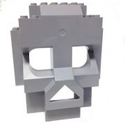 Lego Parts: Rock Panel Skull 4 x 10 x 10 (Light Bluish Gray)