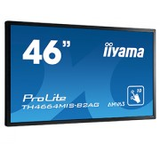 iiyama ProLite TH4664MIS-B2AG 46' LCD 6-Points Touch Screen with AG glass 1920x1080 AMVA3 LED Fan-less speakers Multiple In-/Outputs (VGA DVI-D HDMI DisplayPort