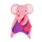 Bright Starts – 40005E Paturica Rontaitoare Cozy Chew – Elefantel Roz