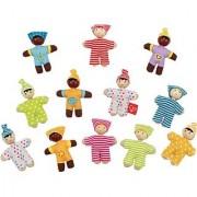 Hape - Happy Babies Pocket Dolls Set of 12