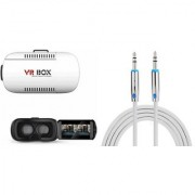 QWERTY VR Box And AUX Cable for MICROMAX CANVAS 6 PRO