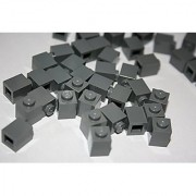 Lego Building Accessories 1 X 1 Dark Bluish Gray Brick Bulk - 100 Pieces Per Package