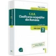 C.O.R. Clasificarea Ocupatiilor Din Romania Act. 22 Aprilie 2014
