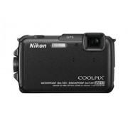 """Nikon Coolpix AW110 Cámara compacta de 16 Mp (pantalla táctil de 3"""", zoom óptico 5x, estabilizador híbrido, WiFi, GPS), negro"""