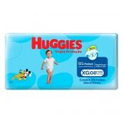 Fraldas Descartáveis Infantis Turma da Mônica Tripla Proteção Tamanho Extra Grande Com 8 Unidades