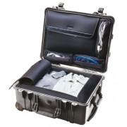 Peli 1560LOC - Valigia Overnight con custodia interna per laptop, colore: Nero