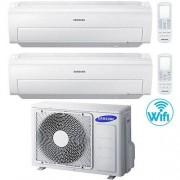 Samsung Climatizzatore Condizionatore Samsung AR5500M Dual Split Inverter 7000 + 7000 BTU con U.E. AJ040FCJ2EH/EU Classe A++/A+