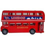 London Double Decker Bus Hard Top (4.75 Diecast Model Car Red)