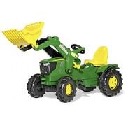 Rolly Toys 611096 - Trattore a Pedali Farmtrac John Deere 6210R, con Ruspa