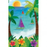 Ocean View 54in x 102in Plastic Tablecover