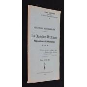 Questions Régionalistes : La Question Bretonne, Régionalisme Et Nationalisme