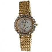 FAP DB Analog golden colour womens ladies girls watch