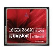 Compact Flash Card 16GB Kingston Ultimate 266X, CF/16GB-U2
