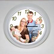 Ceasuri de perete, personalizate cu fotografia dorita, forma rotunda