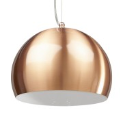 Suspension boule design 'POGO' couleur cuivre