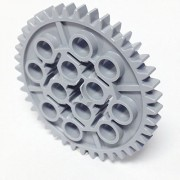 Lego Parts: Technic, Gear 40 Tooth (Light Bluish Gray) by Parts/Elements - Technic, Gears