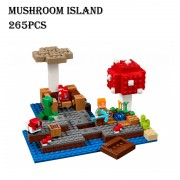 Model building kits compatible with lego 21129 18023 my world MineCraft mushroom island Educational toys hobbies for children