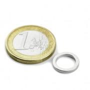 Magnet neodim inel, diametru 12/09 mm, putere 1,5 kg