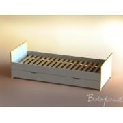 ATB BIANCO łóżko z szufladą 200x90 z materacem